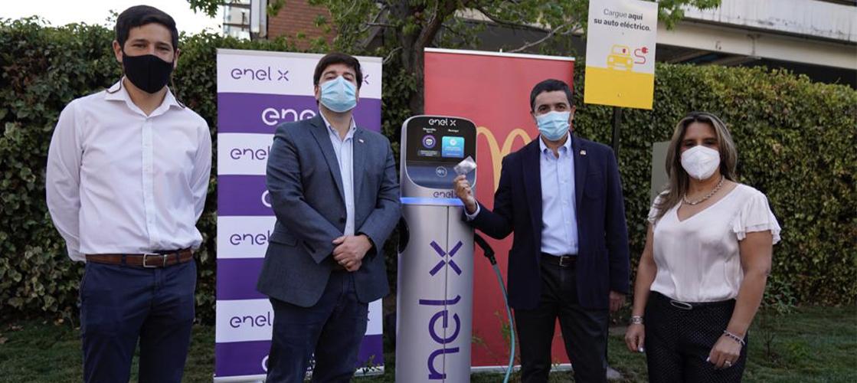 Inauguramos el primer punto de carga para autos eléctricos en Chile
