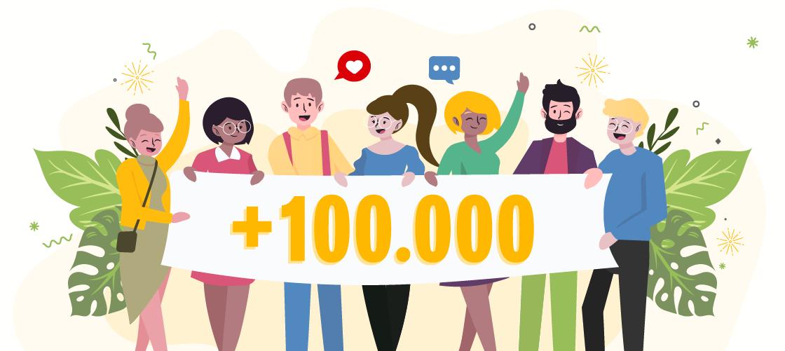 Celebramos las más de 100.000 visitas