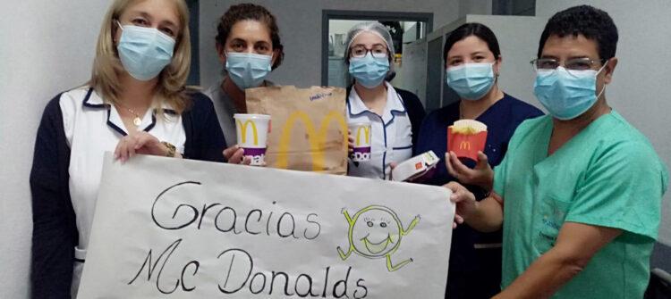 Donamos más de 200 combos a profesionales de la salud uruguayos