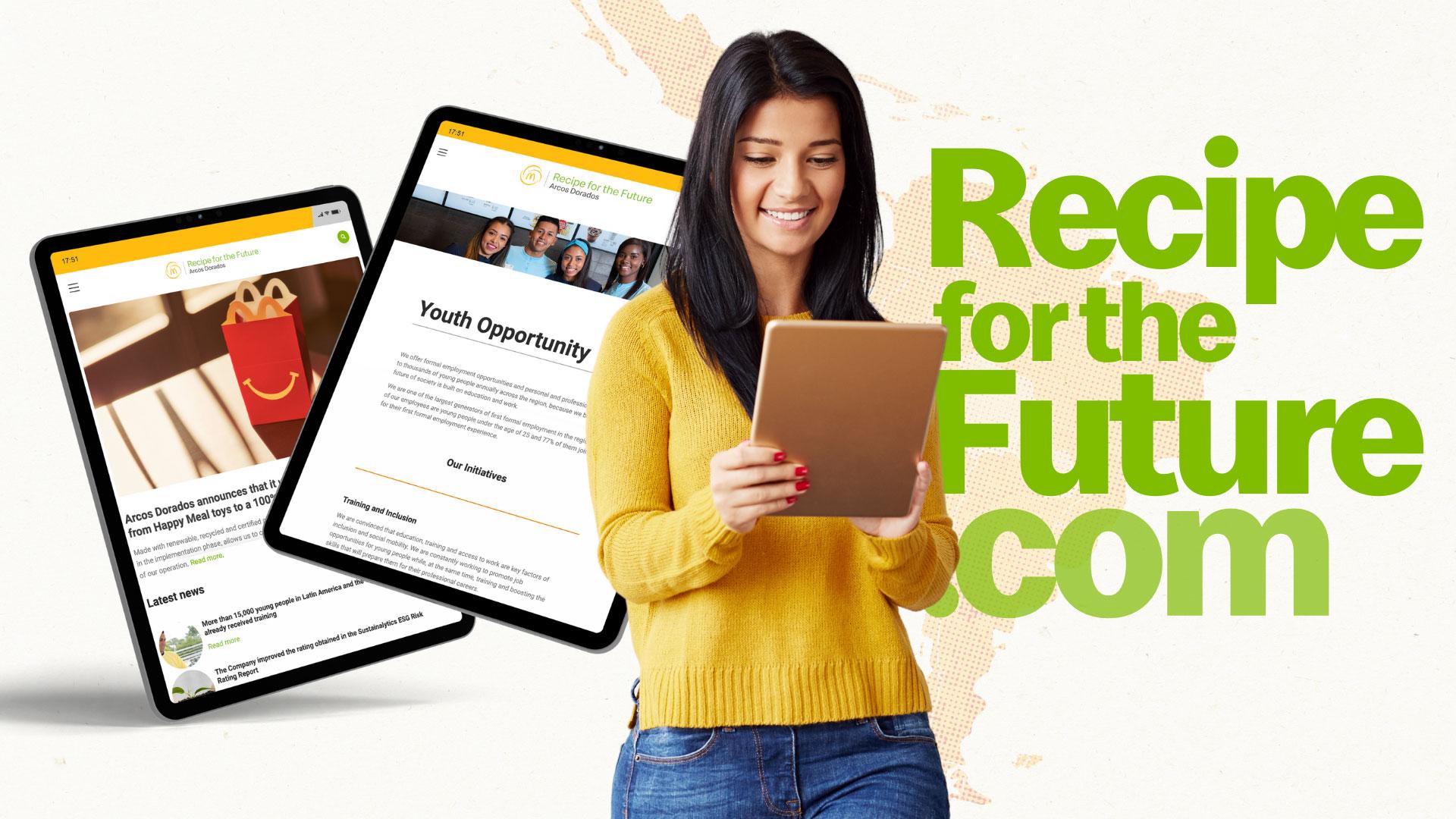 Ya está disponible en inglés nuestro sitio web Receta del Futuro
